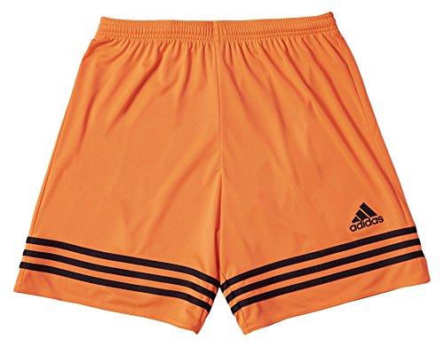Adidas - Pantaloncino Entrada 14 Da Uomo, Colore Arancione/Nero, Taglia XXL