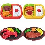 4 Large Bento Box Lunch Dinner Steak Lobster Erasers Japanese IWAKO