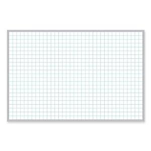 Magna Visual PBFG5 Magnetic Porcelain Board,24 in.x36 in.,1 in.x1 in. Grid,Aluminum Frame