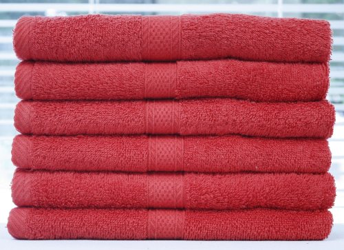 """Spectrum 12-Piece Solid Color Cotton Terry Cloth Terry Cloth Hand Towels 16""""X28"""" Hibiscus"""