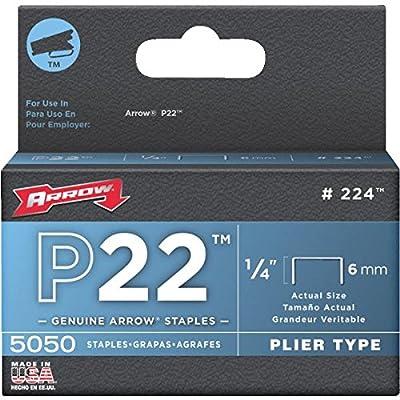 Arrow Fastener 224 1/4in. P22 Plier Type Staples 5,050/Box