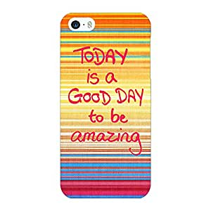 Jugaaduu Good Day Pattern Back Cover Case For Apple iPhone 5c