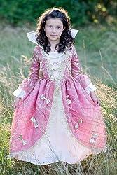 Rennaisance Queen Gown Pink/Gold (Medium (4 6 Years))