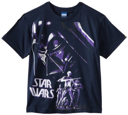 Star Wars Boys 8-20 Fear Of The Dark Shirt, Navy, Small