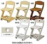 木製チェア 板座 学習机用 WC-16 木製椅子 木製イス 学習椅子 学習チェア 学習イス キッズ用チェア (WHGホワイトハイグロス)
