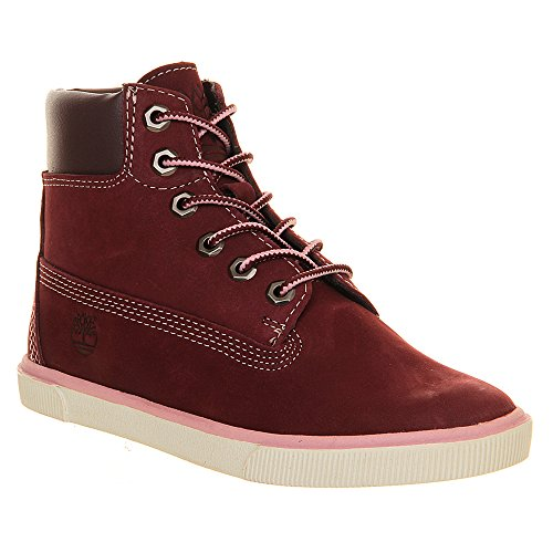 Timberland 2.0 Ek 6 Inch Lace Zip Burgundy Youths Boots Size 4.5 Us back-588181