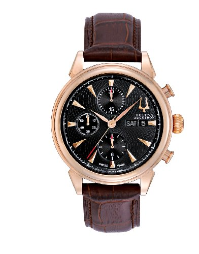 Bulova Accutron Men's Rose Gold Gemini Chronograph Watch 64C104