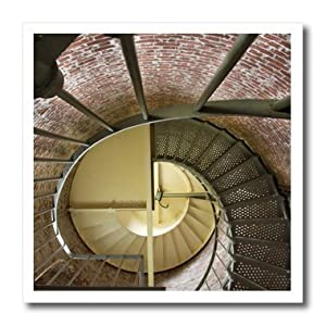 ht_93691_3 Danita Delimont - Spiral Staircases - Oregon, Cape Blanco. Lighthouse spiral staircase - US38 BJA0699 - Jaynes Gallery - Iron on Heat Transfers - 10x10 Iron on Heat Transfer for White Material