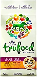 Wellness TruFood Baked Nuggets Natural Grain Free Dry Dog Food, Small Breed Chicken, Chickpeas and Chicken Liver Recipe, 2-Pound Bag