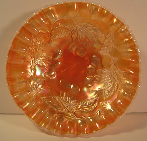 Fenton Antique Carnival Glass Candy Dish, 6 Inches Antique Carnival Glass