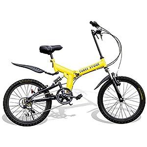 折りたたみ自転車 20インチ シマノ6段変速ギア フルサスペンション AJ-01