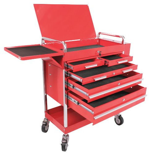 Arcan ASC8045 Heavy Duty 5-Drawer Service Cart