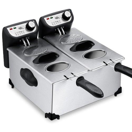Fritteuse-Friteuse-Fritse-Frittse-2x3l-2200-Watt-GS-geprfte-Qualitt