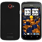 mumbi TPU Skin Case HTC One S Silikon Tasche Hülle - Silicon Protector Schutzhülle transparent schwarz