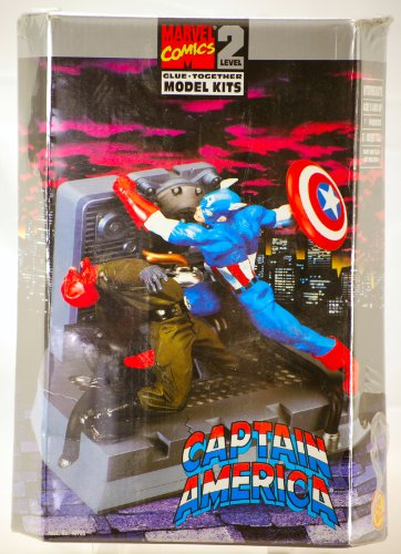 Captain America Red Skull Diorama Model Kit 1:12 Scale (Toy Biz 1998)