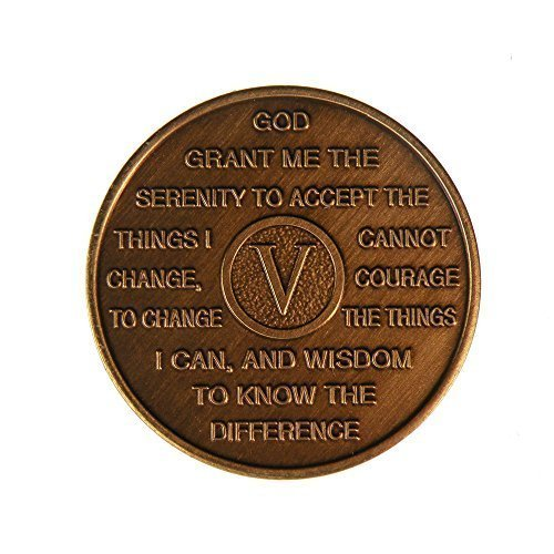 5 Year Bronze Al-Anon Birthday - Anniversary Recovery Medallion / Coin / Chip