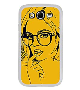 Girl with Glasses 2D Hard Polycarbonate Designer Back Case Cover for Samsung Galaxy Grand 2 :: Samsung Galaxy Grand 2 G7105 :: Samsung Galaxy Grand 2 G7102