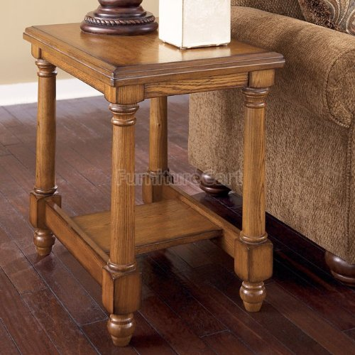 Image of Burnished Brown Holfield End Table (T530-7)