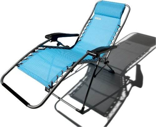 Strathwood Basics Anti-Gravity Adjustable Recliner Chair, Caribbean Blue