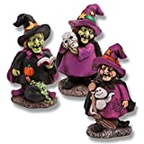 3 Halloween Witch Figurines; Halloween Decor – $14.95!