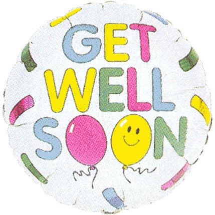 """Get Well Soon 18"""" Bandaid w/ Smiley Face Sympathy Mylar Foil Balloon"""