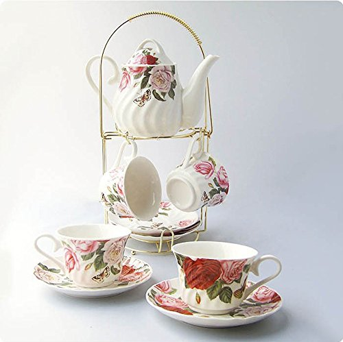ufengkerwhite-and-red-rose-flower-9-piece-european-style-ceramic-tea-set-tea-service-coffee-set