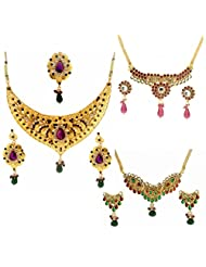 Dg Jewels Exotic Ethnic Necklace Set Combo-DGENS Combo 106