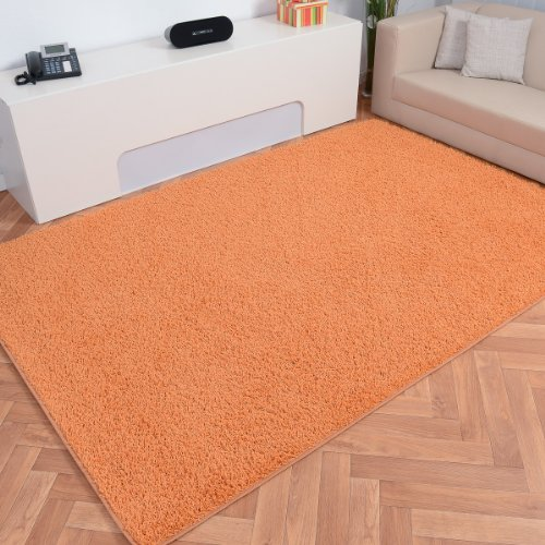 Havatex: Hochflor Teppich Shaggy Amarillo orange rund / Prüfsiegel: Blauer Engel / Flormaterial: 100 % Polypropylen / In verschiedenen Größen erhältlich