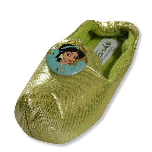 Disney Princess - Little Girls Jasmine Slipper, Gold 19368-M7-8
