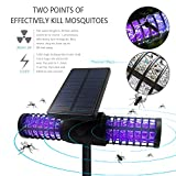 Solarmks MW-0104 Solar Bug Zapper ,with 4 LED UV Bulbs Cordless Security Outdoor Mosquito Killer Lamp