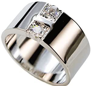 Amazon.com: White Gold Overlay 11 mm Extra Wide Men's or