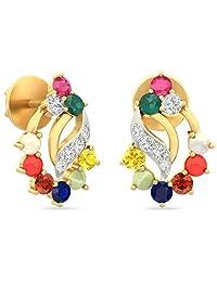 WearYourShine By PC Jeweller The Cordelia 18 K Gold And Diamond Stud Earrings