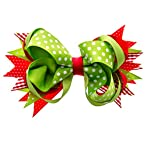 Green and Red Hairbow