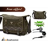 [CANVAS] ARMY GREEN | Universal 10-inch Tablet Case Messenger Bag For 10.1 Dell Latitude. Bonus Ekatomi Screen...