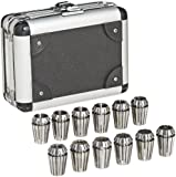 "Dorian Tool ER20 Alloy Steel Ultra Precision Collet Set, 0.039"" - 0.511"" Hole Size (Set of 12)"