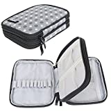 Damero Organizer Zipper Case for Crochet Hook and Accessories, Gray Dots (No Accessories Included)