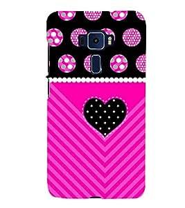 Purple Black Heart 3D Hard Polycarbonate Designer Back Case Cover for Asus Zenfone 3 Deluxe ZS570KL