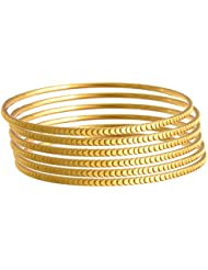 JFL - Glorious Gold Designer One Gram Gold Plated Bangle For Women.