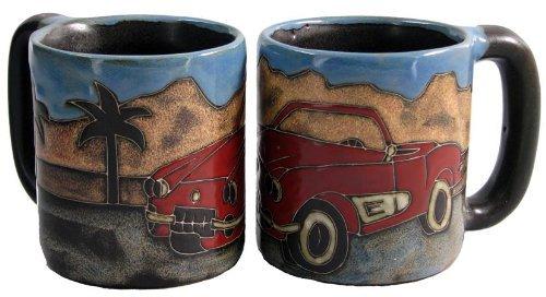One (1) Mara Stoneware Collection - 16 Ounce Coffee Or Tea Cup Collectible Dinner Mug - Sports Car Design