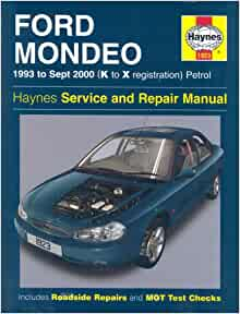 Ford Mondeo Service and Repair Manual: 1993 to Sept 2000 (K to X Reg