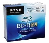 SONY ビデオ用BD-R 追記型 片面2層50GB 4倍速 ホワイトプリンタブル 10枚パック 10BNR2VCPS4