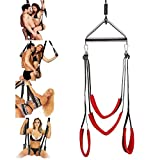 Sexbaby Adult Sex Swing Bondage with Steel Triangle Frame Fetish Restraint