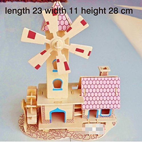 Thinkmax 3D Three-Dimensional Puzzle Wooden House Model,Children'S Educational Toys(Childishness House) front-84041