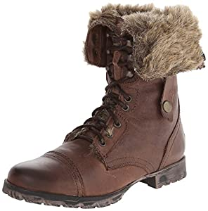 Steve Madden Women's Cuddle-F Snow Boot,Brown,9.5 M US