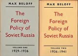 img - for The Foreign Policy of Soviet Russia 1929-1941; In Two Volumes book / textbook / text book