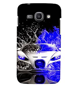 Printvisa Dual Colored Convertible Splashing Water Back Case Cover for Samsung Galaxy Ace 3::Samsung Galaxy Ace 3 S7272