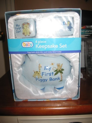 baby-4-piece-keepsake-set-blue-piggy-bank-photo-box-tooth-holder-curl-holder-by-marketed-by-wal-mart