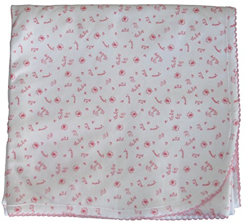 Kissy Kissy Baby-Girls Infant Sweet Baby Girl Print Blanket-White-One Size