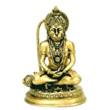 Redbag My Lord Resides In My Heart - Lord Hanuman Statuette ( 19.05 Cm, 11.43 Cm, 10.16 Cm)