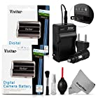 (2 Pack) EN-EL15 Battery and Charger Kit for NIKON DSLR D810, D750 D7100, D7000, D800E, D800, D610, D600, NIKON 1 V1 - Includes: 2 Vivitar Ultra High Capacity Rechargeable 2500mAh Li-ion Batteries + AC/DC Vivitar Rapid Travel Charger + Cleaning Kit + MagicFiber Microfiber Lens Cleaning Cloth